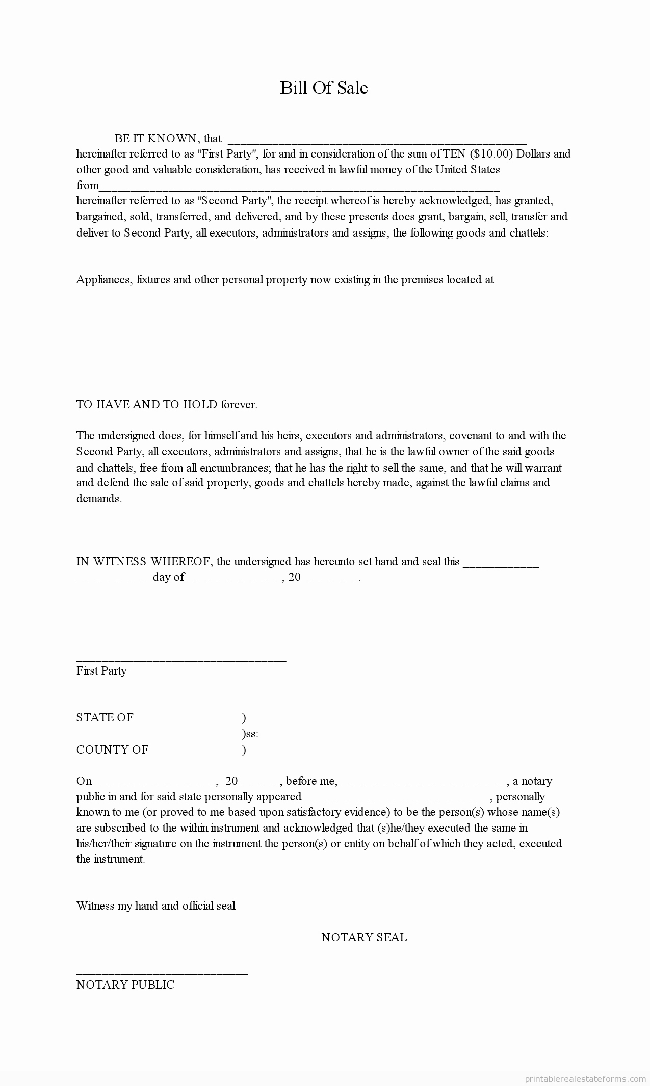 Form for Bill Of Sale Inspirational Free Bill Of Sale form Motorboat All Boats