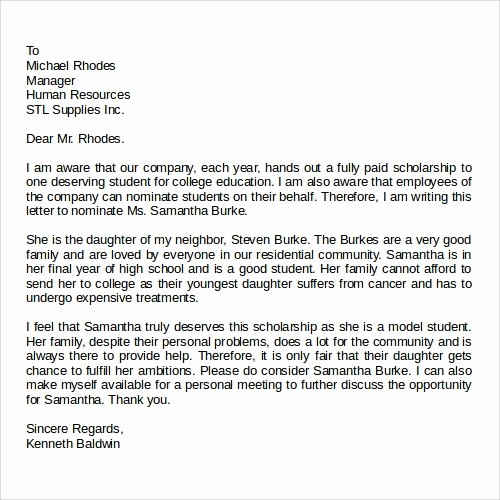 Form for Letter Of Recommendation Awesome 27 Letter Of Re Mendation In Word Samples