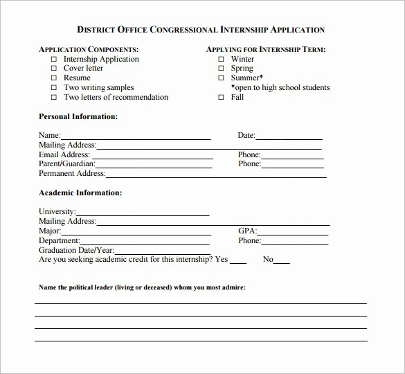 Form for Letter Of Recommendation Fresh 10 Letters Of Re Mendation for Internship Pdf Doc