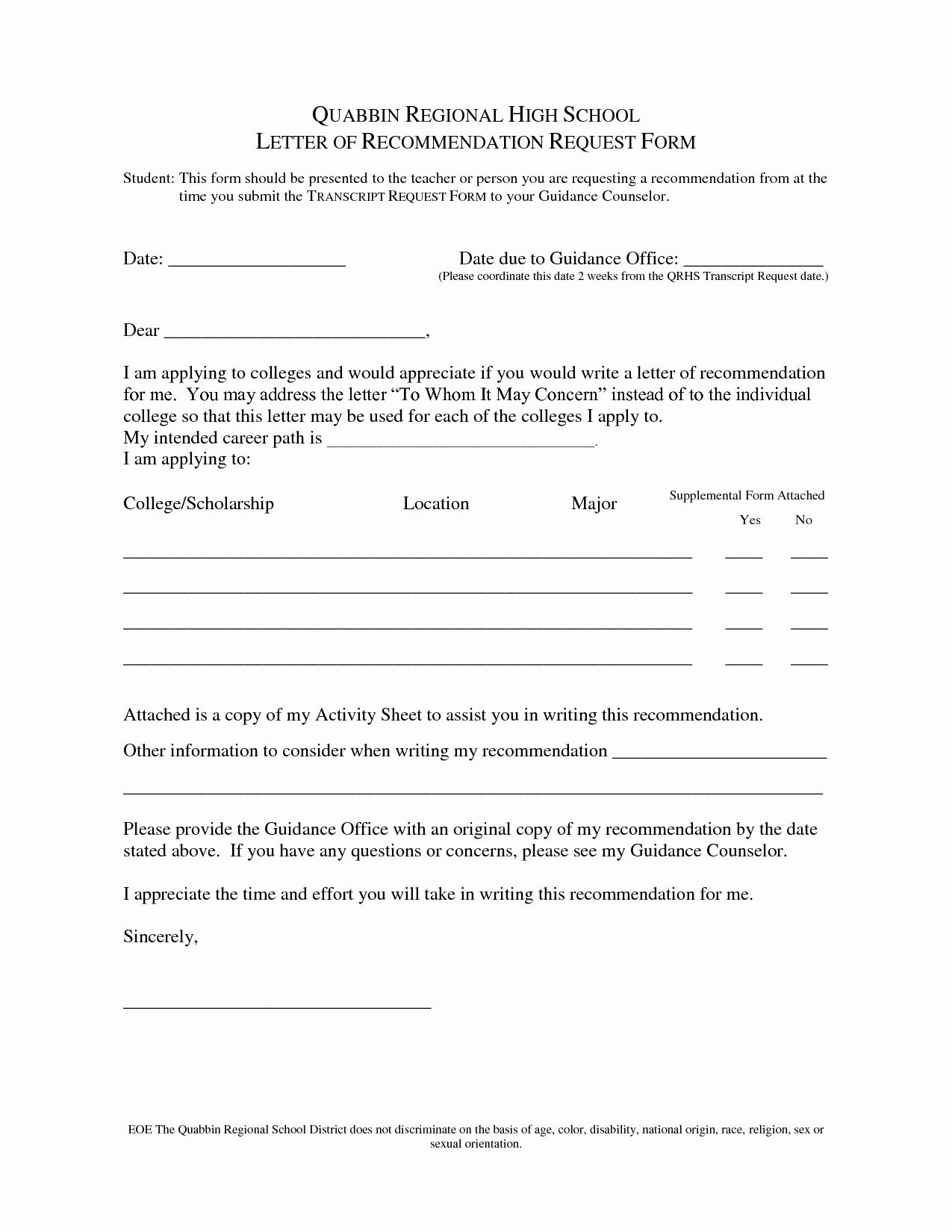 Form for Letters Of Recommendation Beautiful Sample Letter Re Mendation Request form Oshiborifo