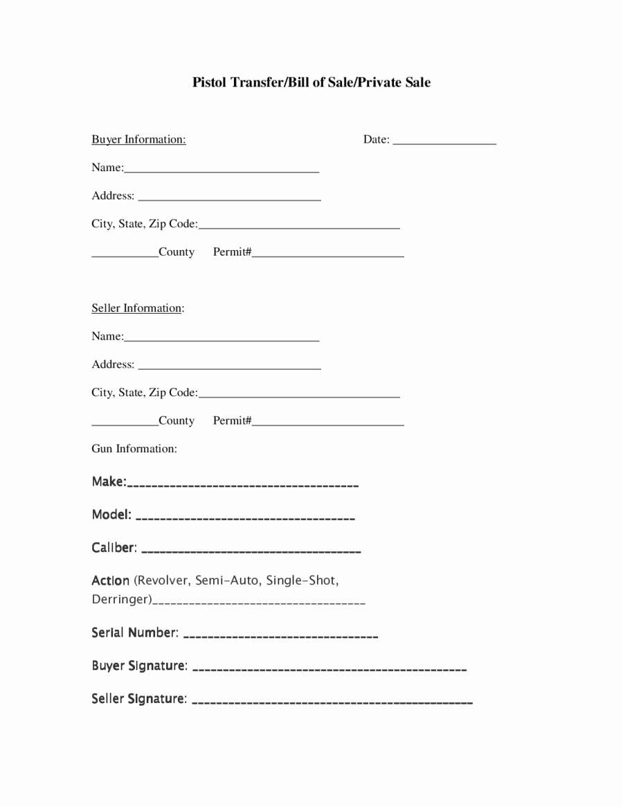 Form Of Bill Of Sale Awesome 2018 Firearm Bill Of Sale form Fillable Printable Pdf