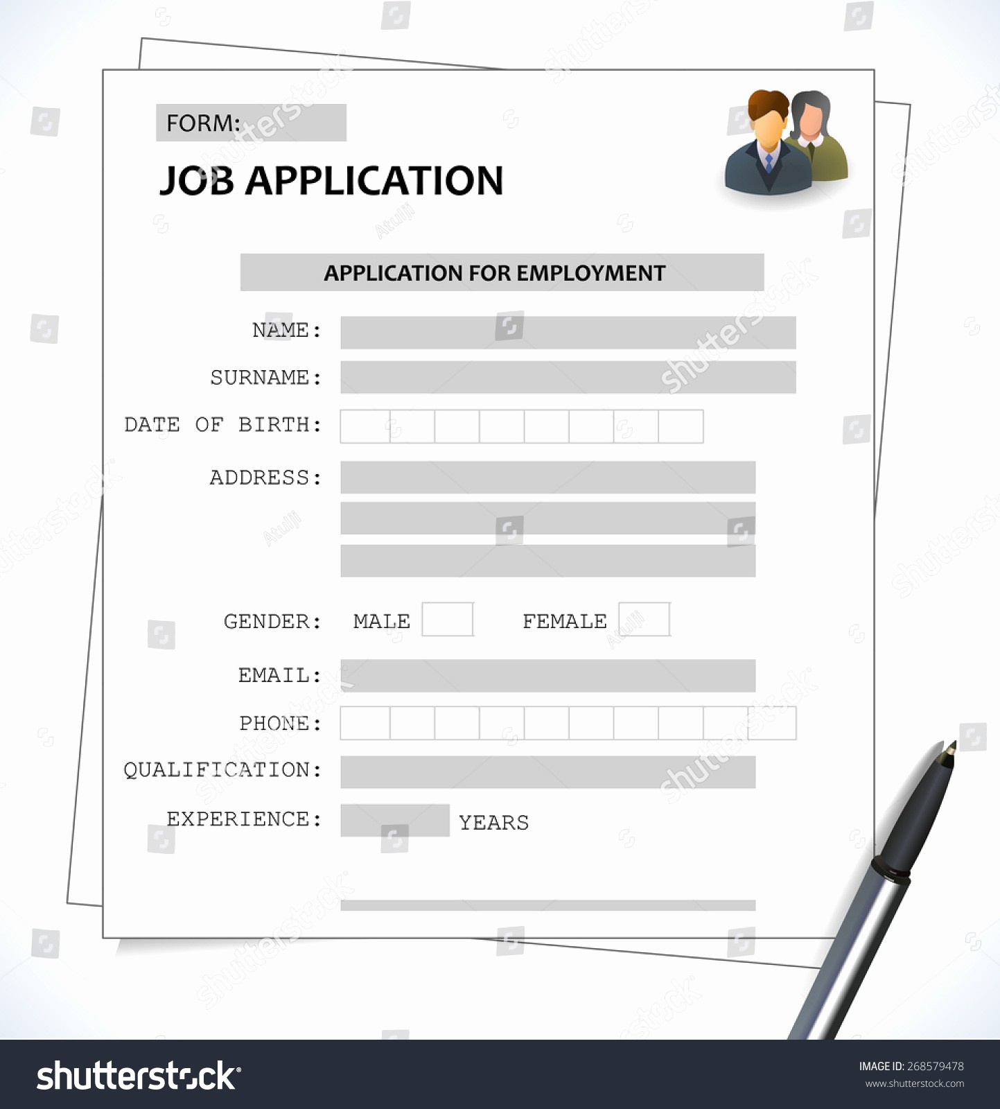 Form Of Resume for Job Beautiful Minimalist Cv Resume Template Job Application Stock Vector