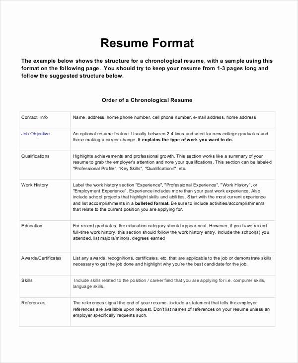 Form Of Resume for Job Elegant Download Resume formats & Write the Best Resume