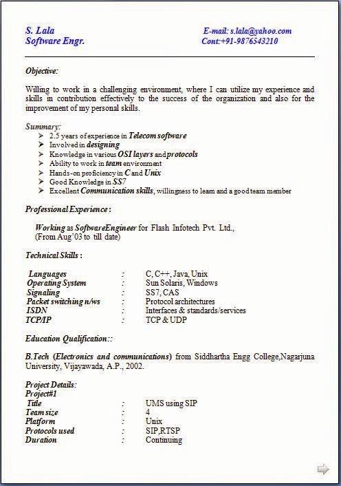 Form Of Resume for Job Fresh Resume format Resume format Job Application Download