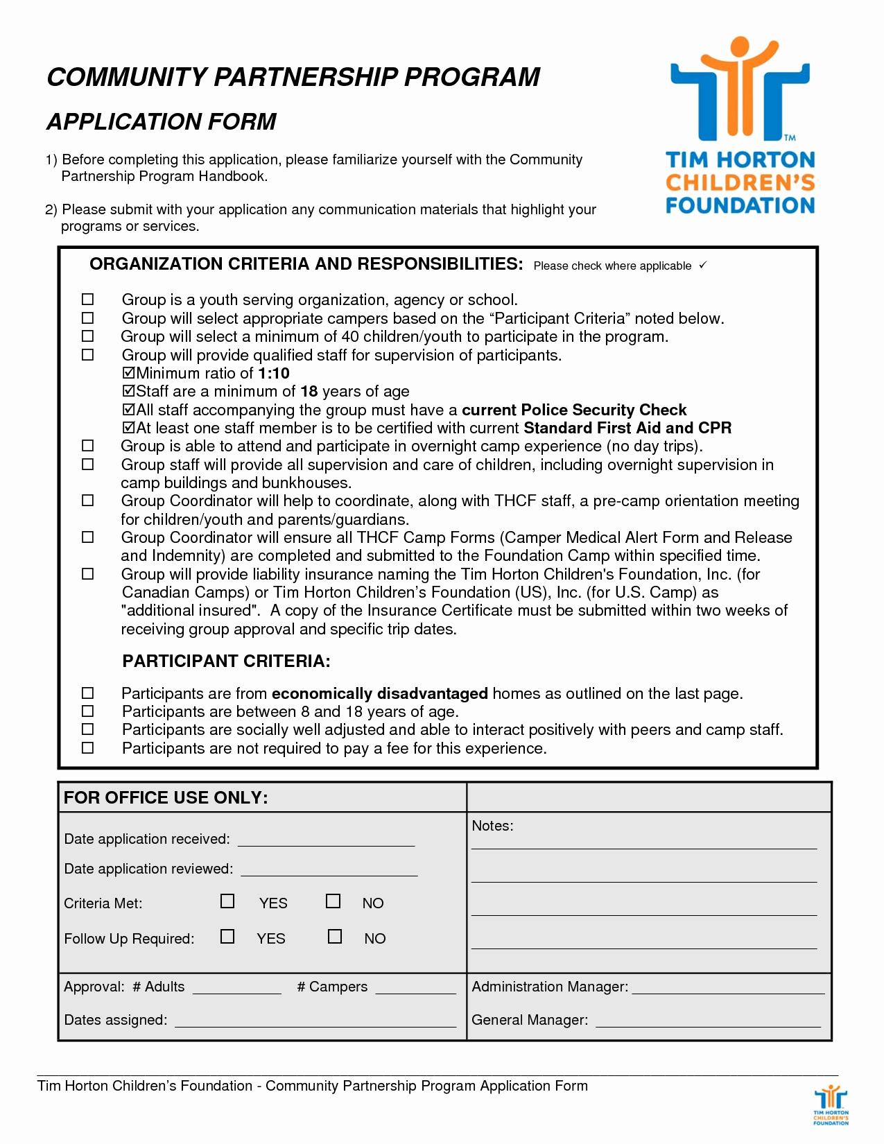 Form Of Resume for Job Inspirational 10 Tim Hortons Application form Samplebusinessresume