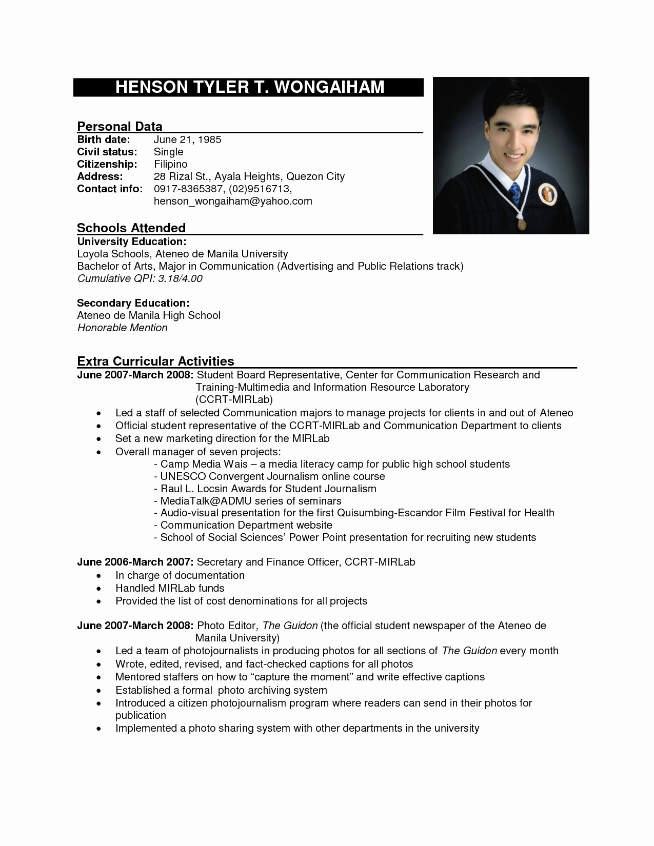 Form Of Resume for Job Inspirational 12 Example Of Job Applying Resume