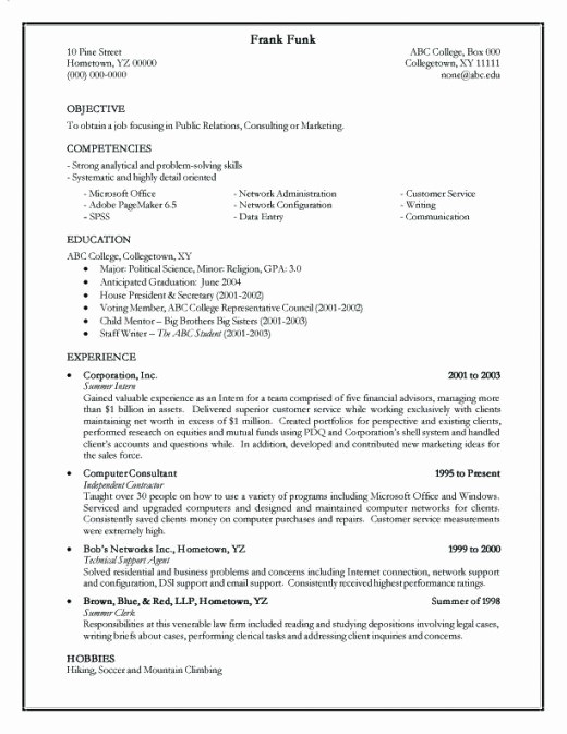 Form Of Resume for Job Luxury How to Make A Simple and Effective Resume form C V