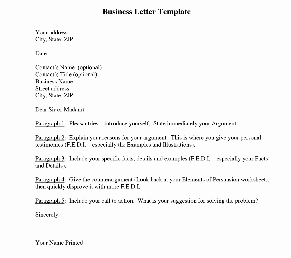 Formal Business Letter format Template Elegant Business Letter Template and their Benefits