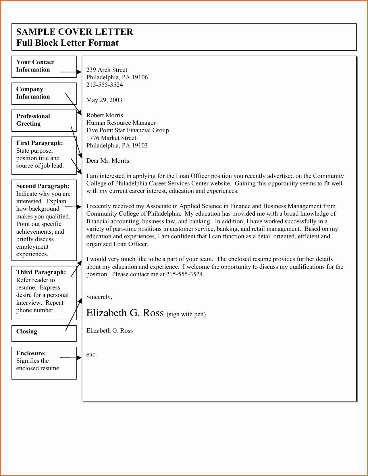 Formal Business Letter format Template Fresh Block format Business Letter Template