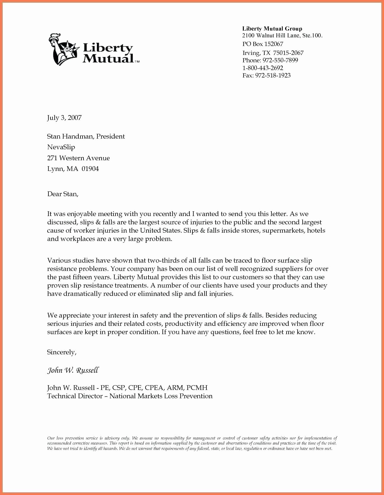 Formal Business Letter format Template Inspirational formal Business Letter Templates 35 formal Business