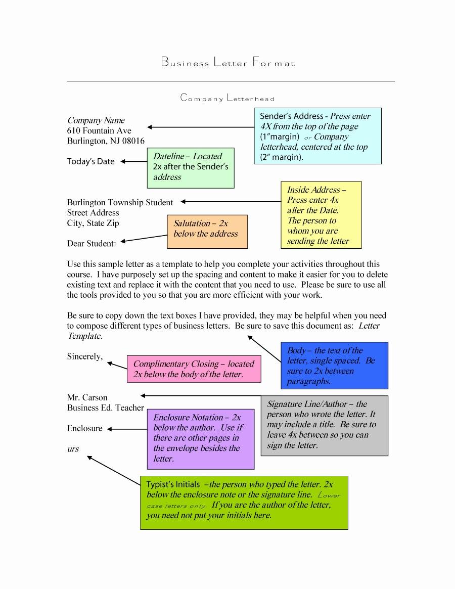 Formal Business Letter format Template Unique 35 formal Business Letter format Templates & Examples