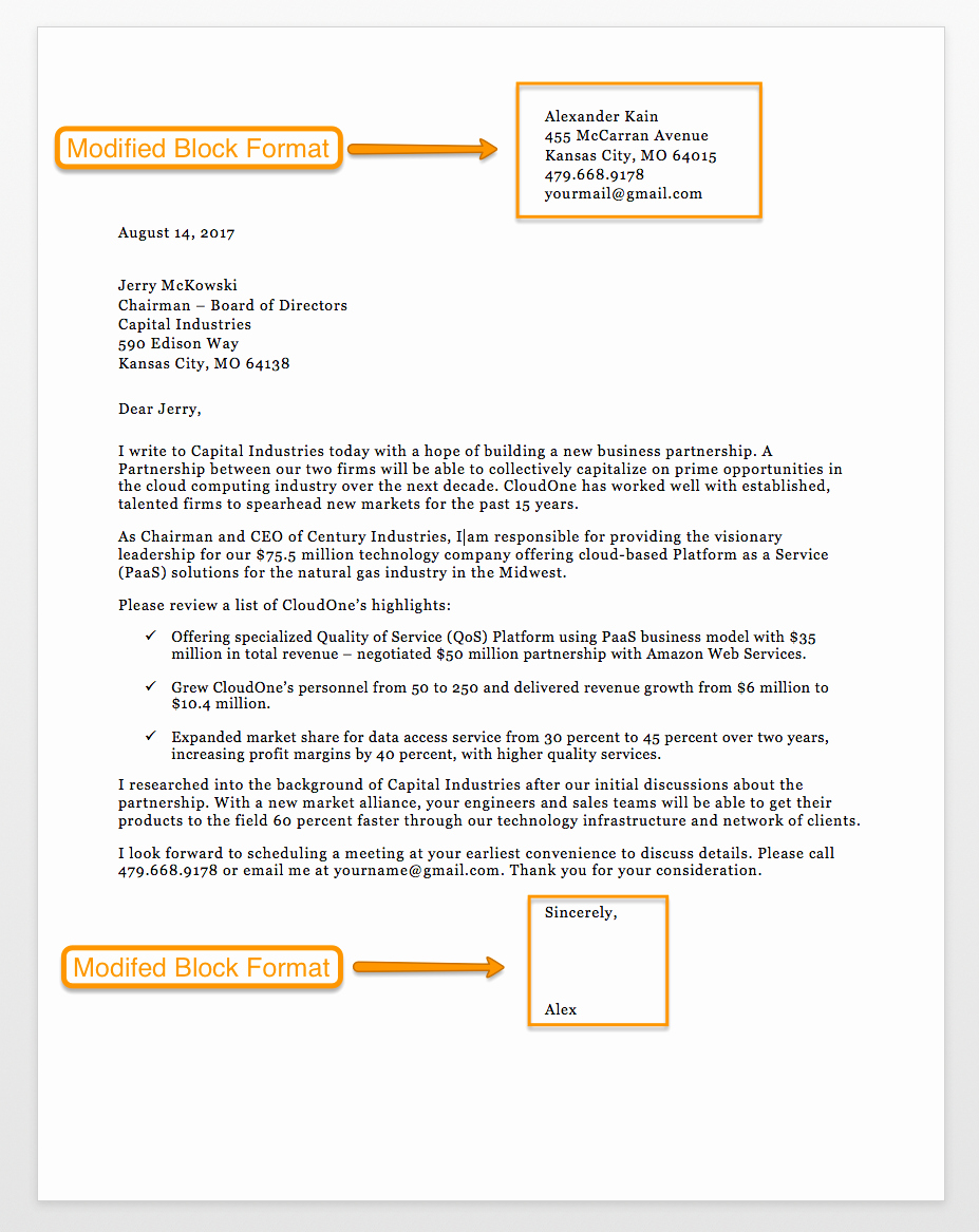 Formal Business Letter format Template Unique Sample Business Letter format 75 Free Letter Templates