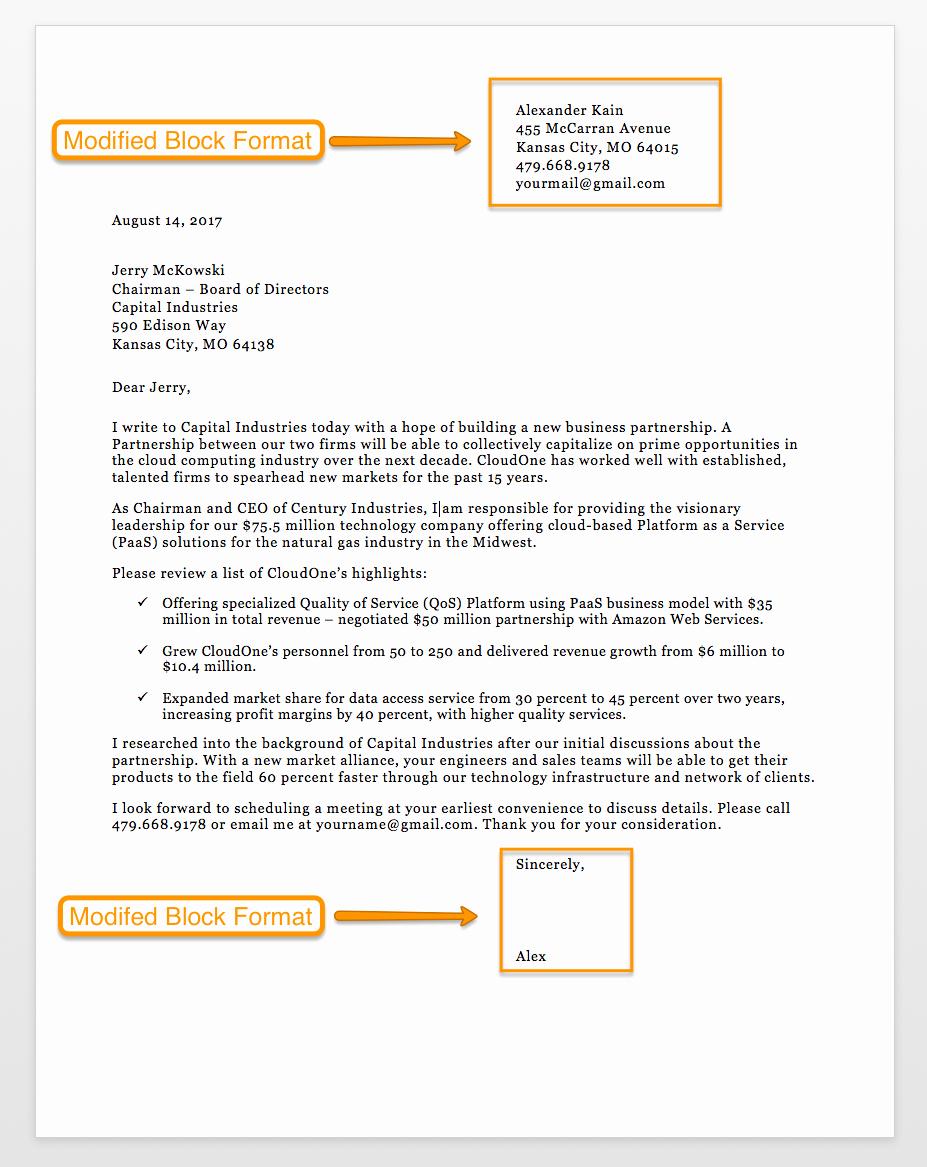 Formal Business Letter format Template Unique Sample Business Letter format 75 Free Letter Templates