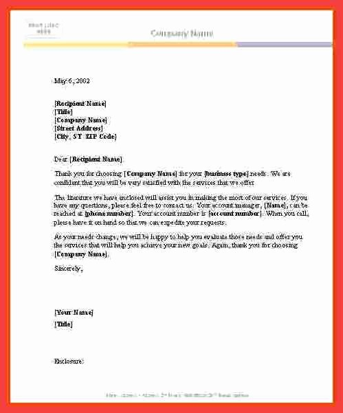 Formal Business Letter Template Word Best Of formal Letter Word Template