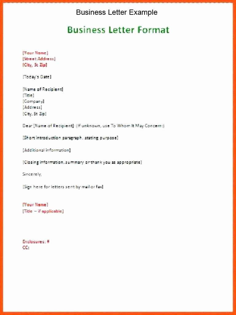 Formal Business Letter Template Word Unique Business Letter Template Word Staruptalent