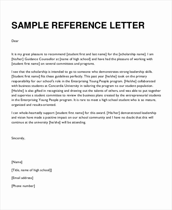 Formal Letter Of Recommendation Template Luxury formal Reference Letter 9 Free Word Pdf Documents