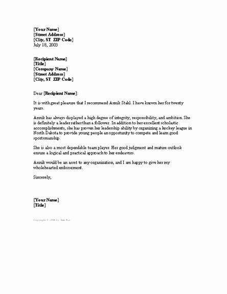 Formal Letter Of Recommendation Template New 10 Images About Letters On Pinterest