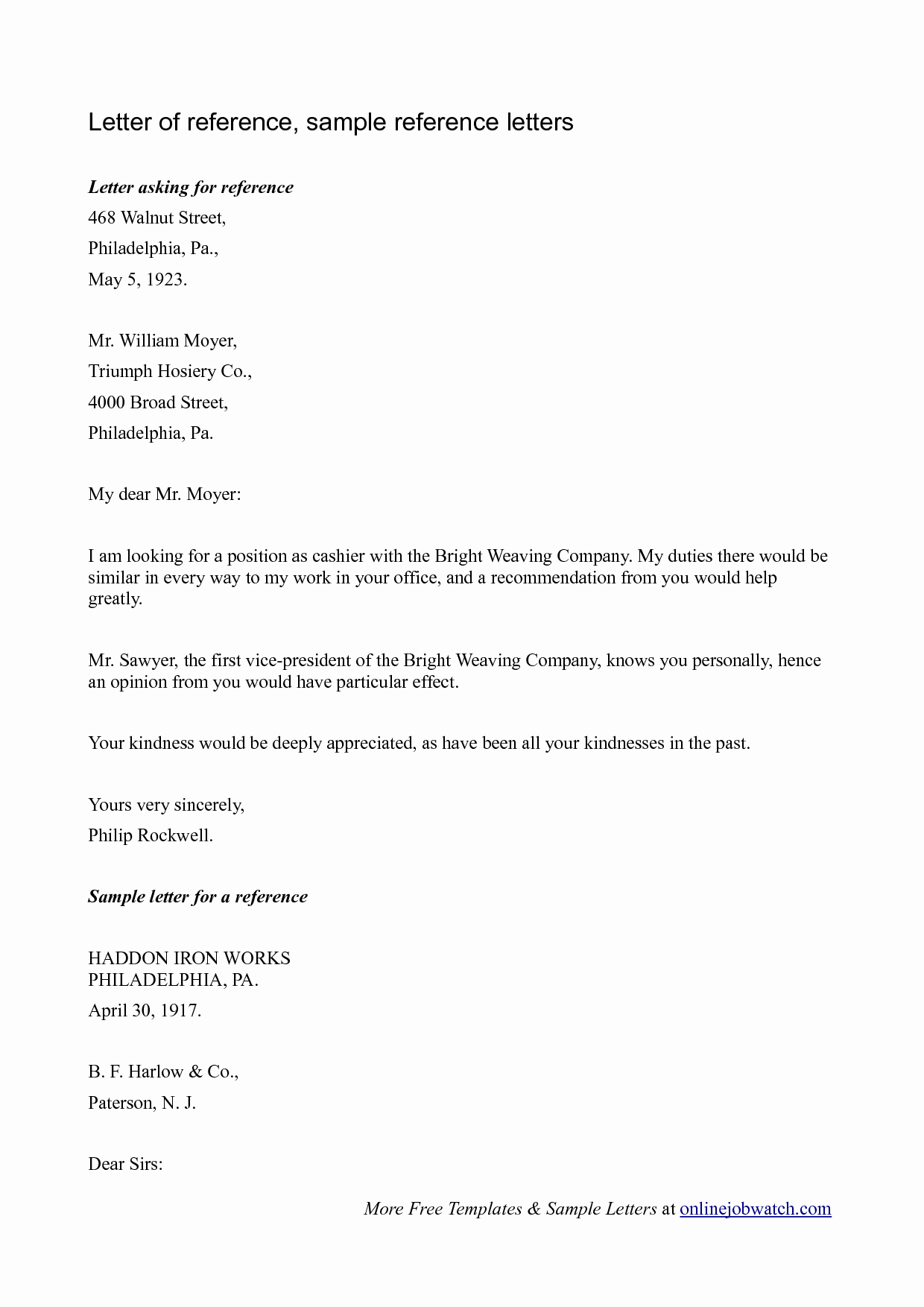 Formal Letter Of Recommendation Template Unique Letters Reference