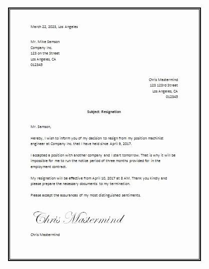 Formal Letter Template Microsoft Word Elegant Sample Resignation Letter Template Word