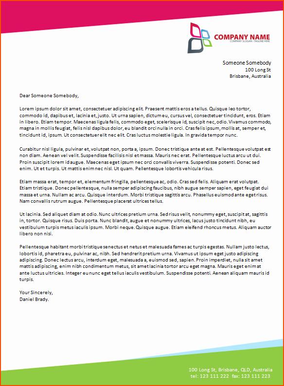 Formal Letter Template Microsoft Word Lovely 6 Microsoft Word Business Letter Template