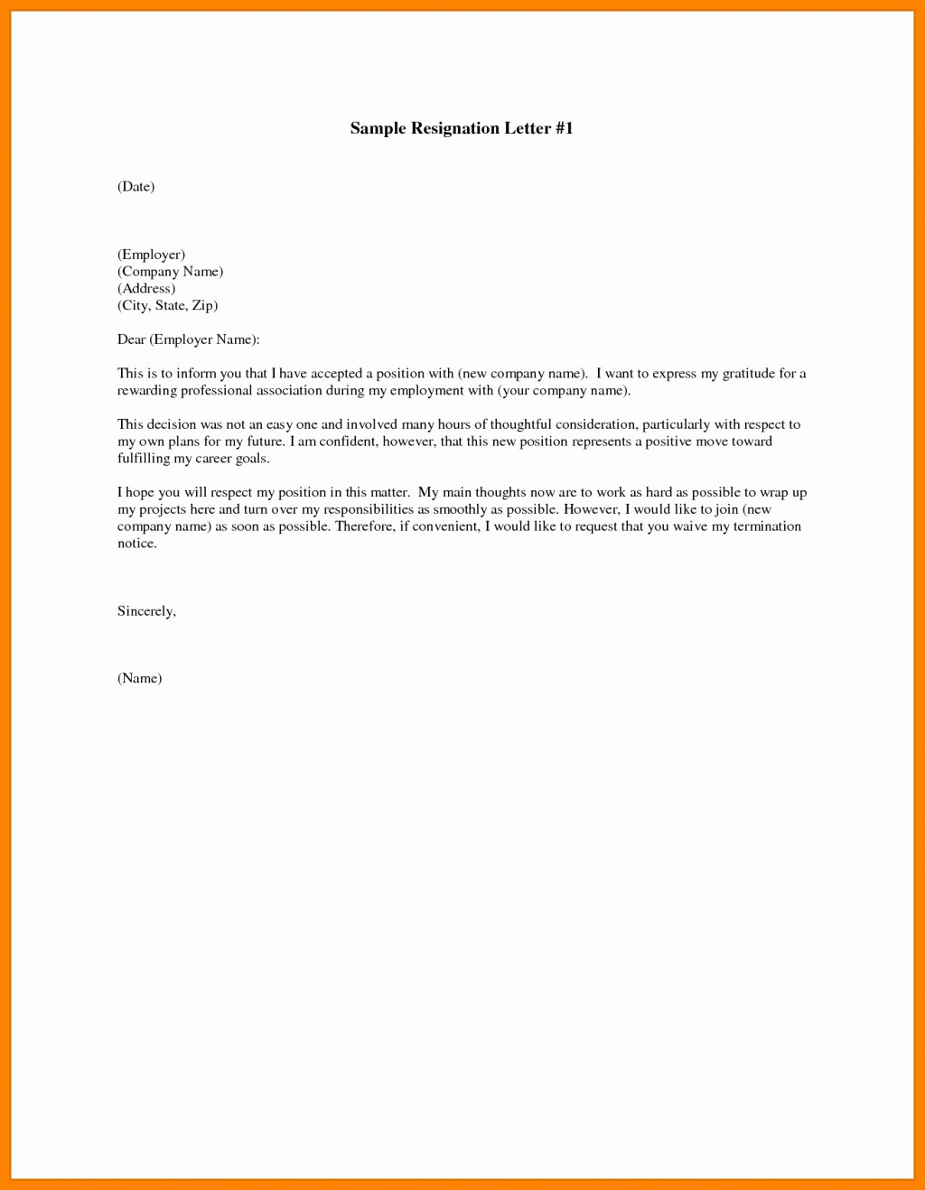 Formal Letter Template Microsoft Word Lovely Free Resignation Letter Template Microsoft Word Download
