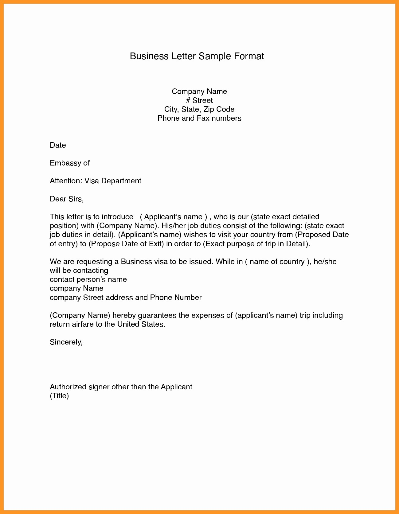 Formal Letter Template Microsoft Word New Business Letter format Template Word