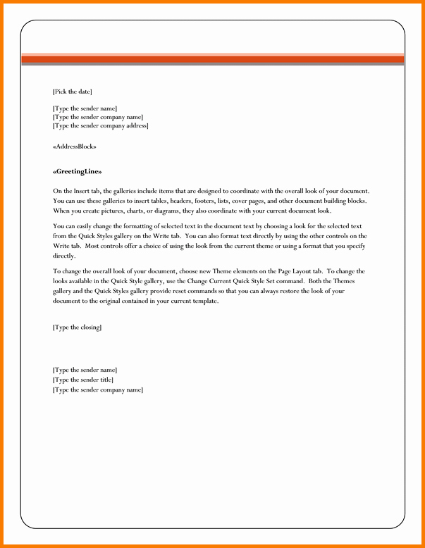 Format A Letter In Word Awesome 5 Business Letter format In Word