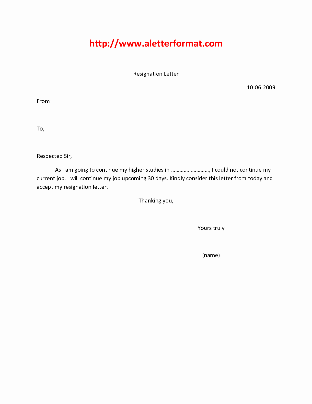 Format A Letter In Word Inspirational 5 Resignation Letter for Marriage Reason