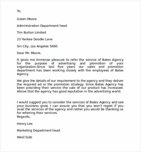 Format A Letter In Word Luxury Personal Business Letter Example