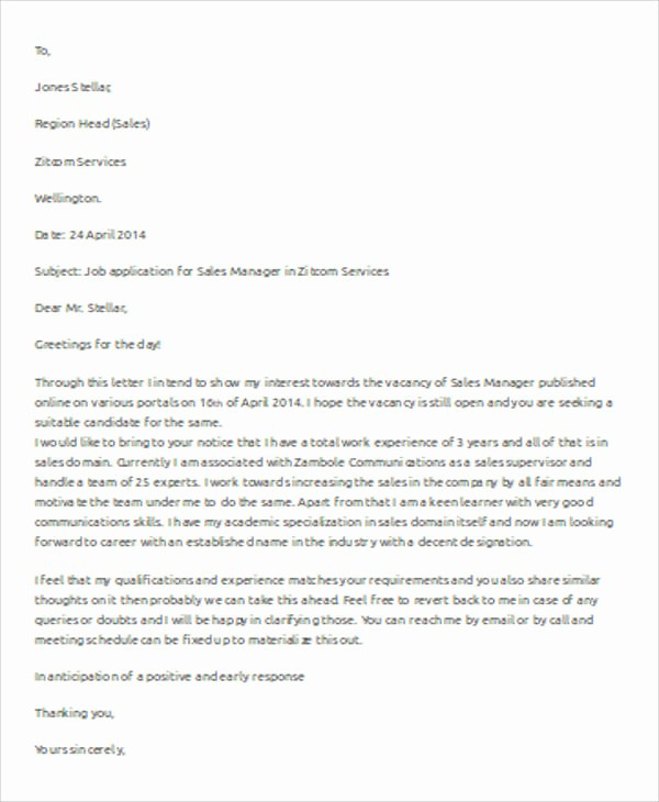 Format A Letter In Word Unique 7 Sample Business Letter Template Words