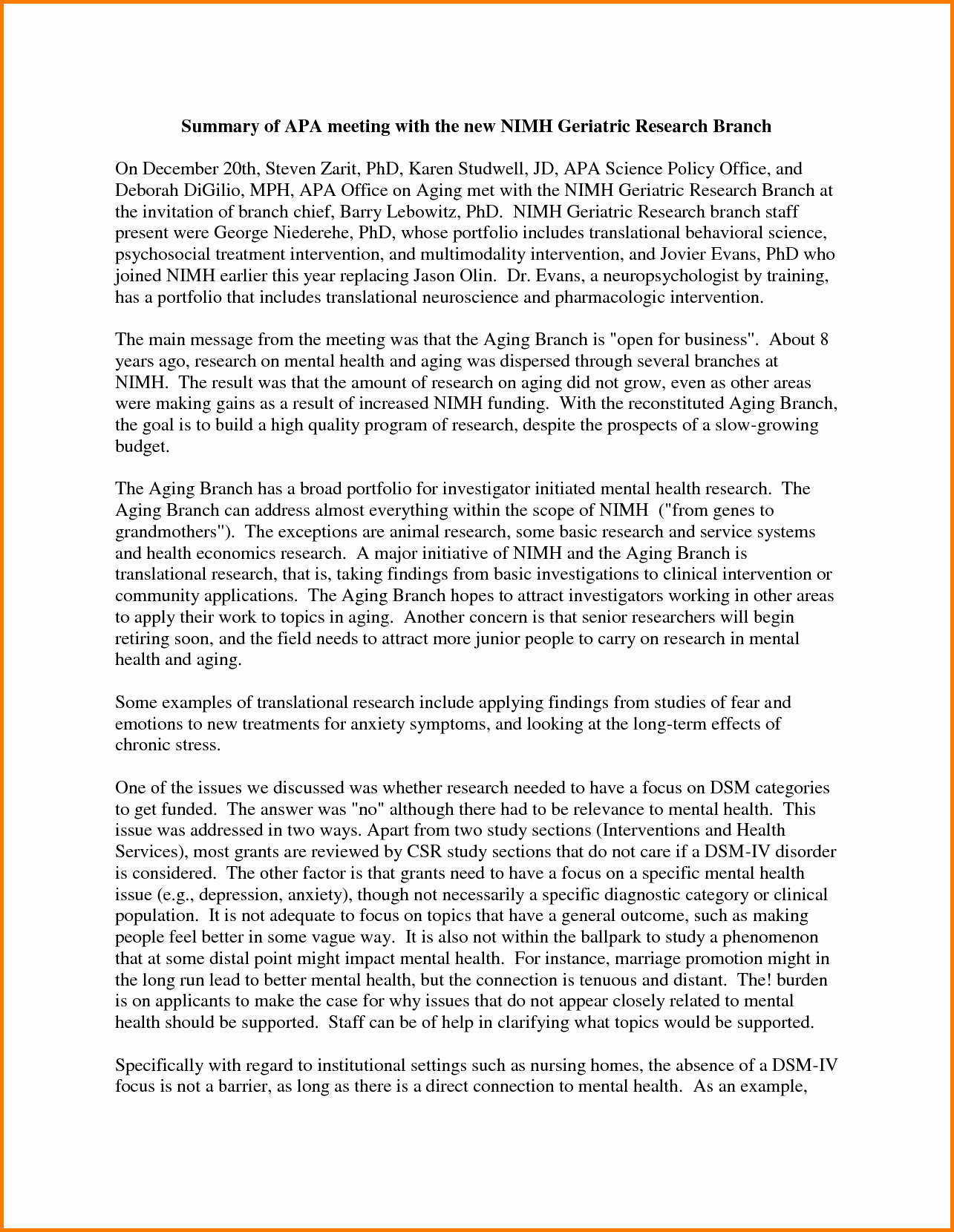 Format for An Executive Summary Awesome 9 Executive Summary Template Apa format