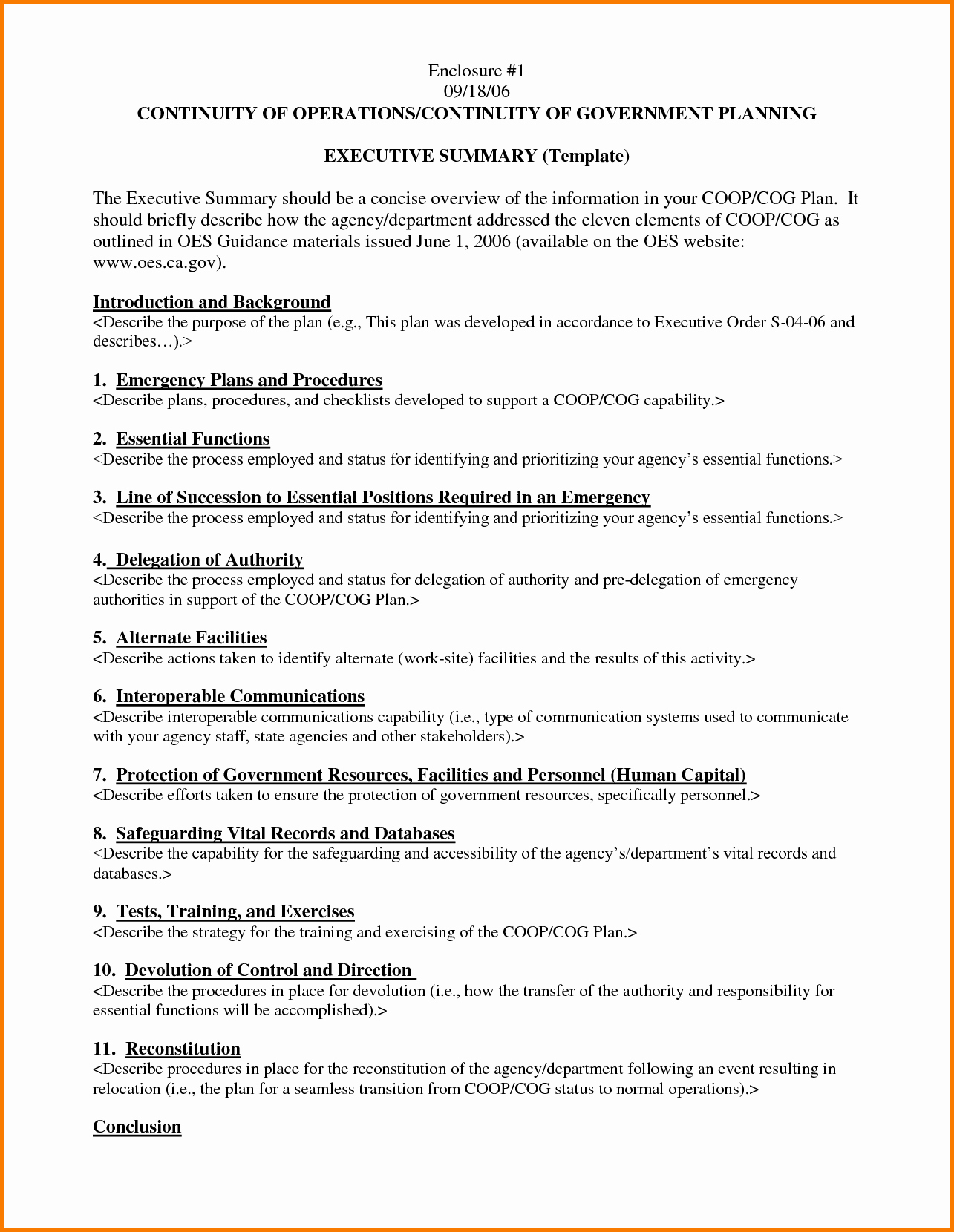 Format for An Executive Summary Best Of Executive Summary Template Example Mughals