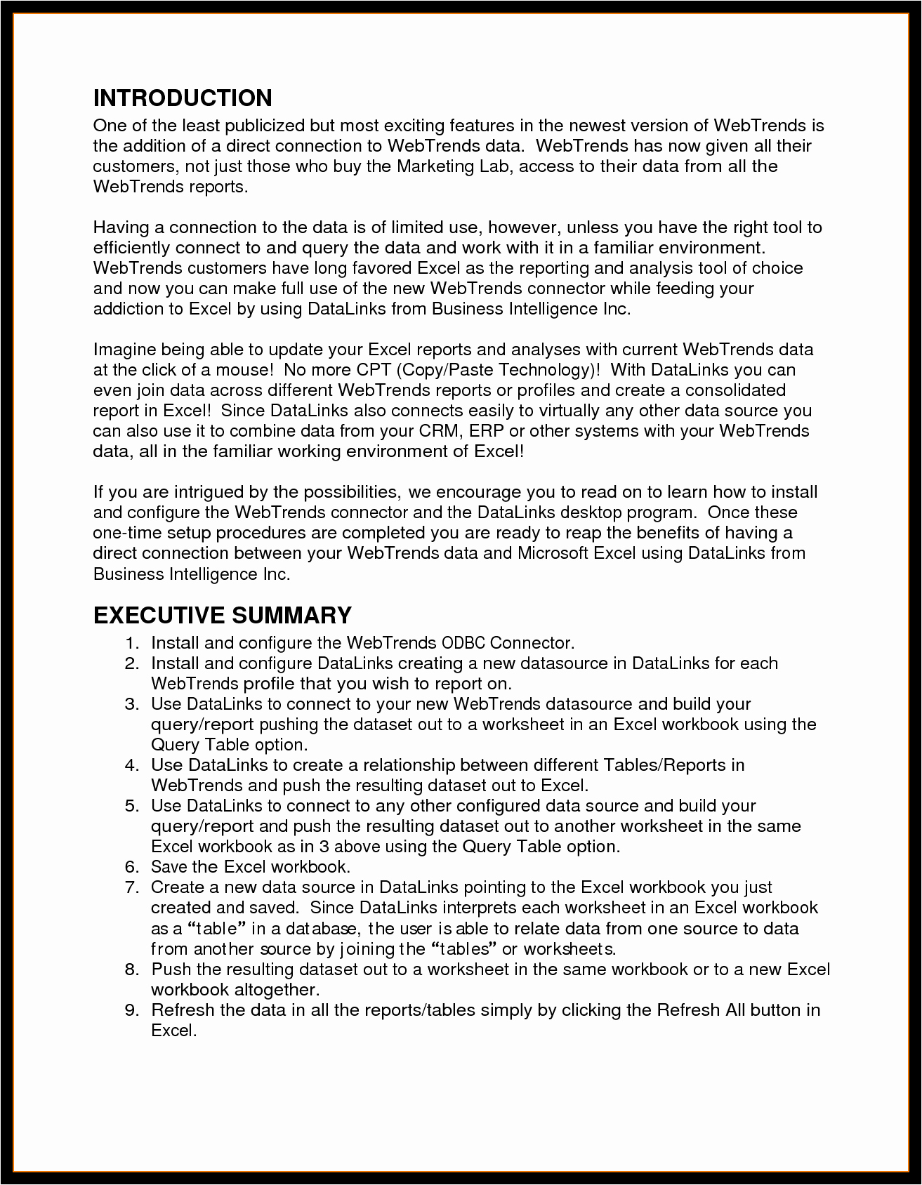 Format for An Executive Summary Elegant Executive Summary Template Example Mughals