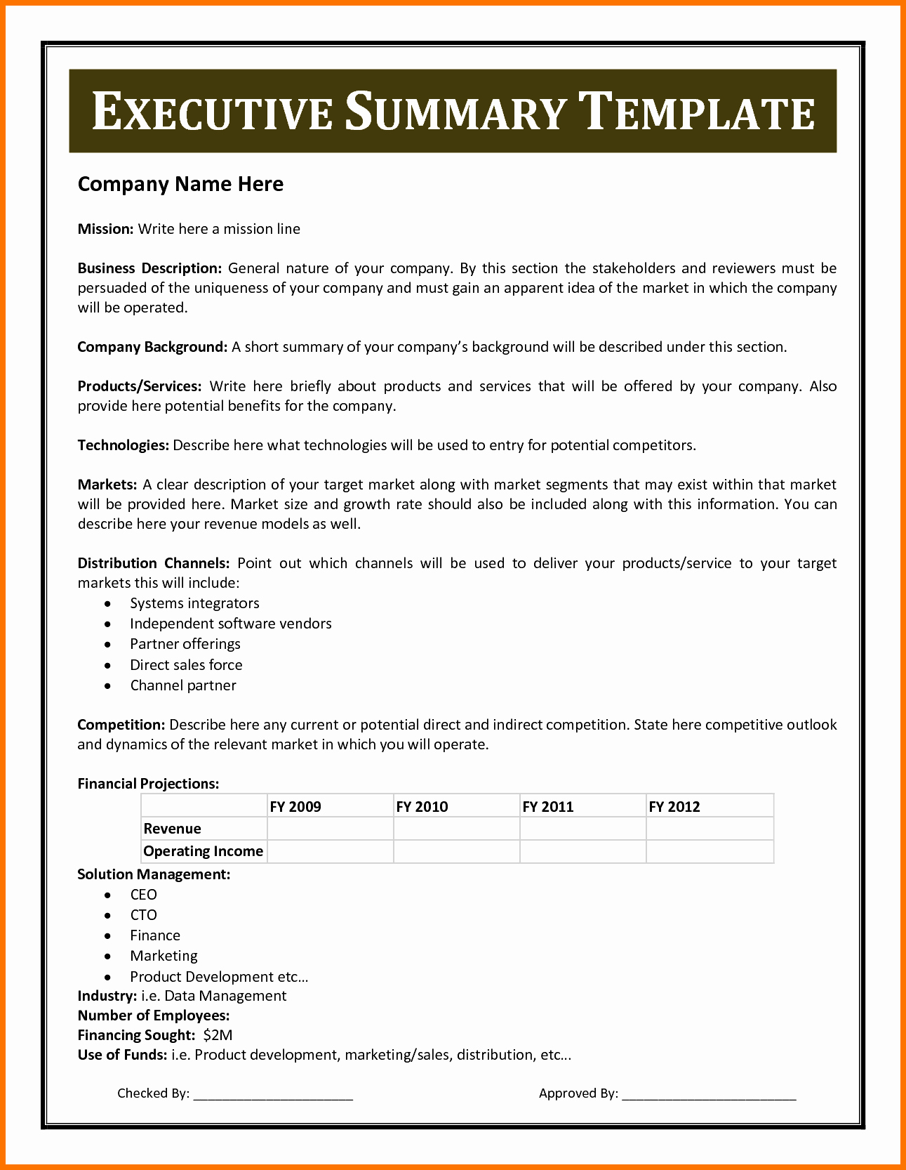 Format for An Executive Summary Fresh Executive Summary Template Example Mughals