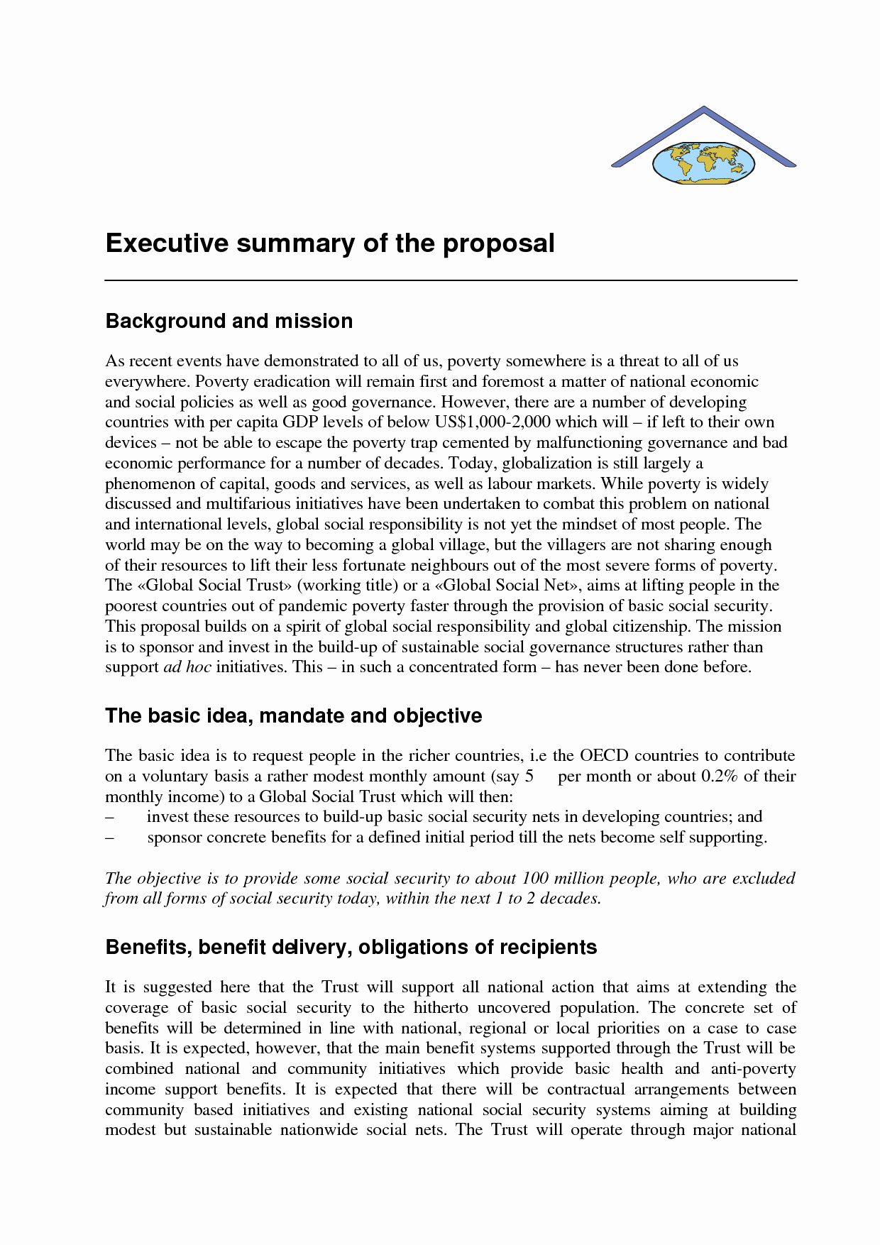 Format for An Executive Summary New Examples Executive Summaries Example Mughals