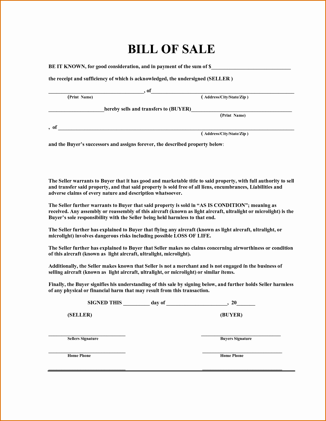 Format for Bill Of Sale Fresh 12 Equipment Bill Of Sale Template