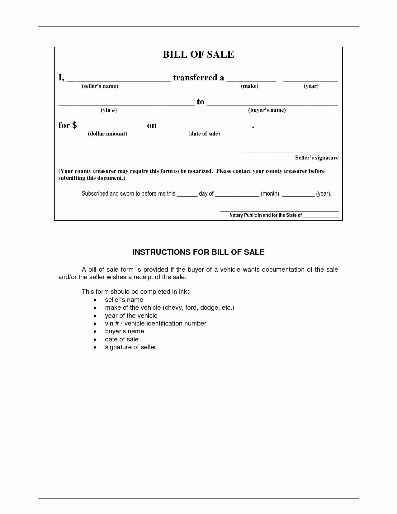 Format for Bill Of Sale Lovely Bill Sale Sample Document Portablegasgrillweber