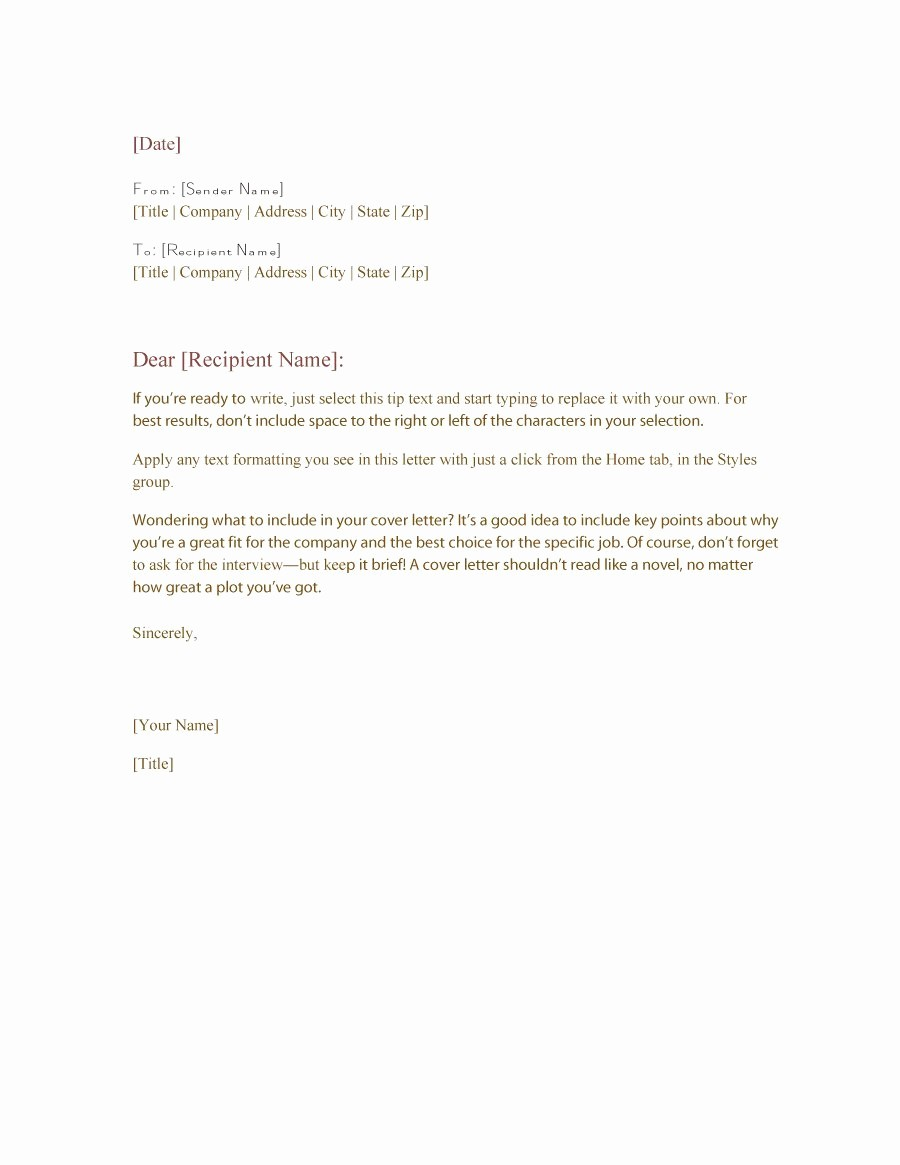 Format for formal Business Letter Best Of 35 formal Business Letter format Templates & Examples