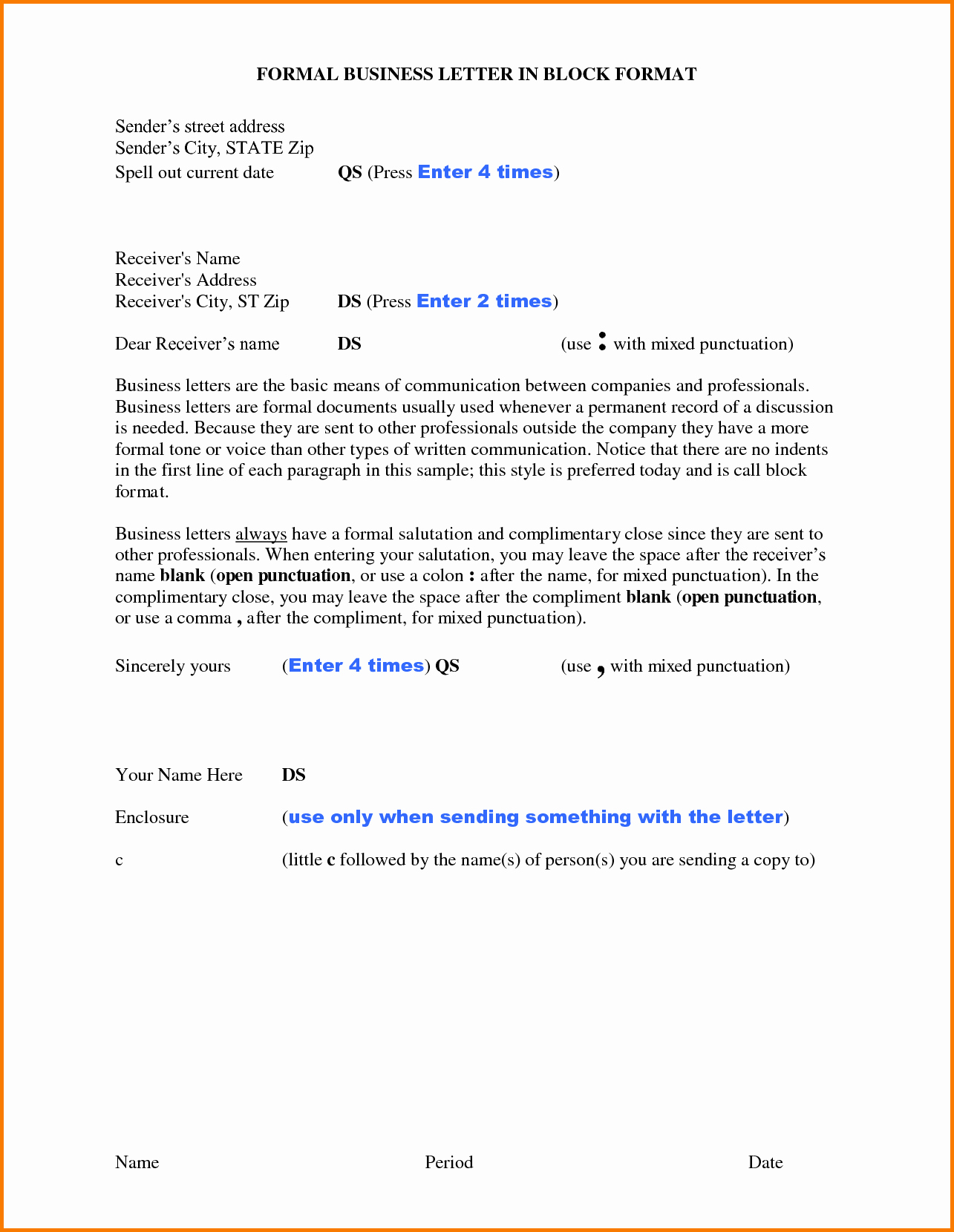 Format for formal Business Letter Elegant 9 formal Letter New format