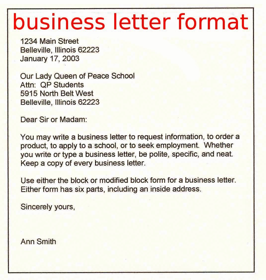 Format for formal Business Letter Lovely April 2015 Samples Business Letters
