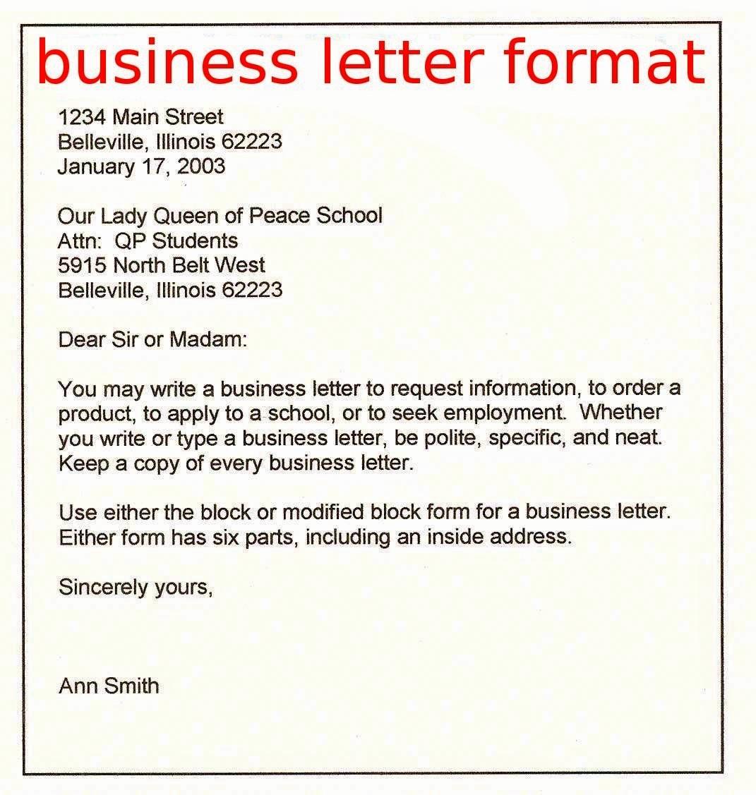 Format for formal Business Letter Lovely April 2015 Samples Business Letters