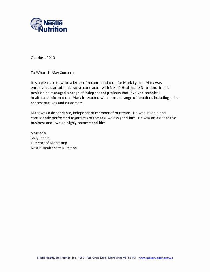 Format for Letters Of Recommendation Luxury Tips for Writing A Letter Of Re Mendation