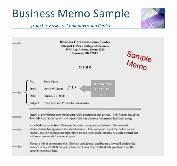 Format Of A Business Memorandum Awesome 12 Business Memo Templates – Free Sample Example format