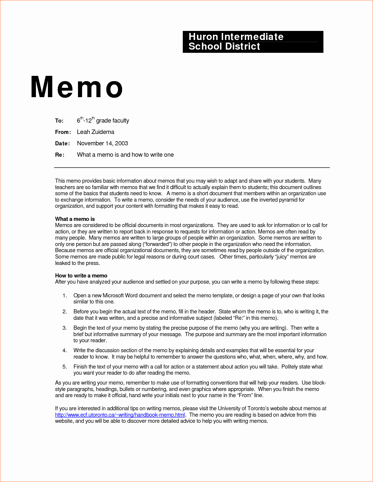 Format Of A Business Memorandum Awesome Business Memo Examples Inter Office Sample Example