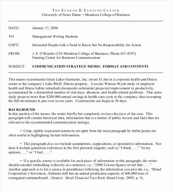 Format Of A Business Memorandum Beautiful 15 Pany Memo Templates – Example Word Google Docs