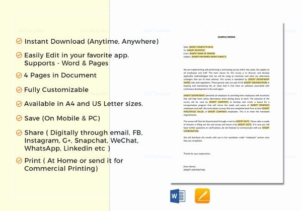 Format Of A Business Memorandum Best Of 14 formal Memo Examples Samples