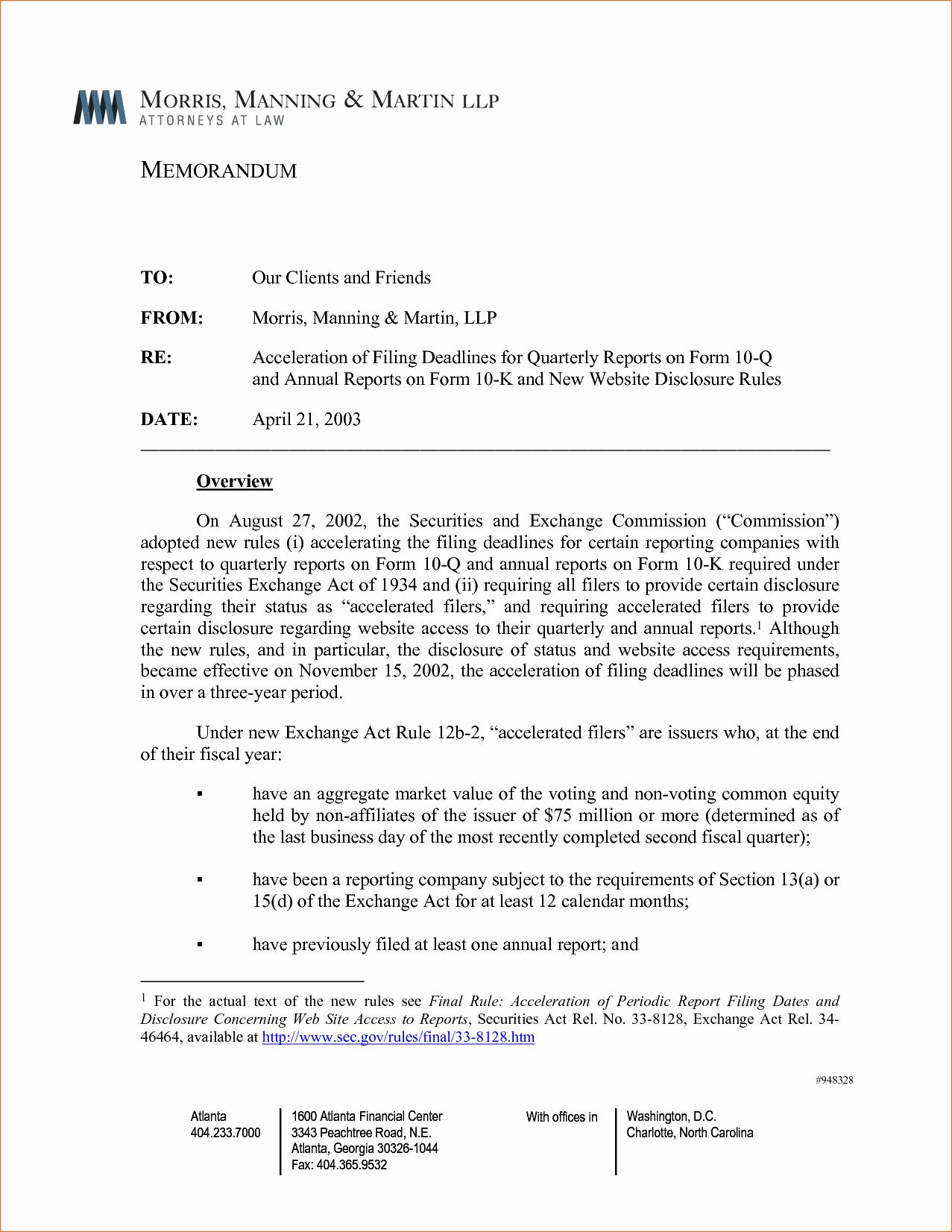 Format Of A Business Memorandum Best Of 6 Business Memo Examples