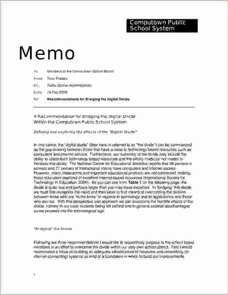 Format Of A Business Memorandum Best Of 9 Memo Letter format