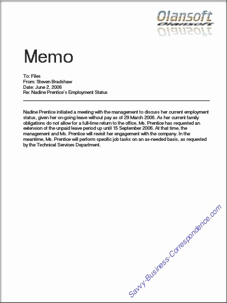 Format Of A Business Memorandum Fresh are there Types Of Memos