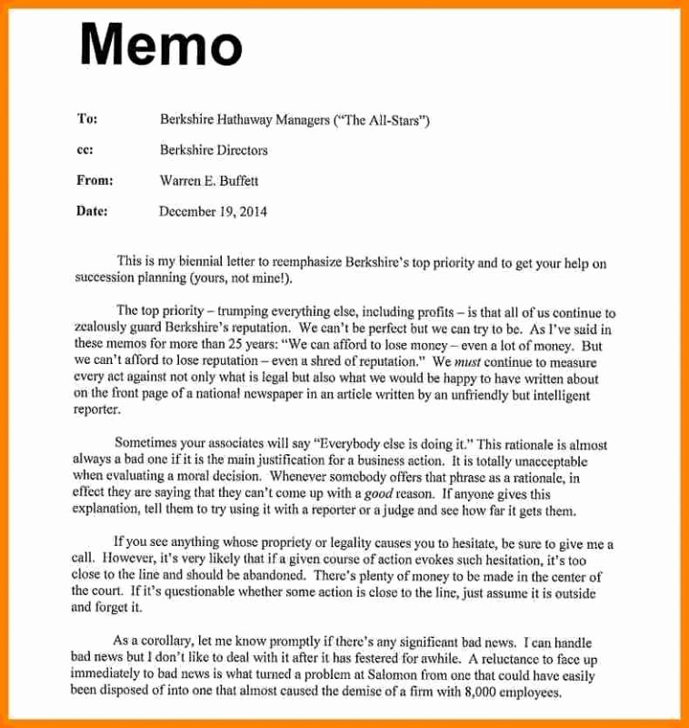 Format Of A Business Memorandum Fresh Sample Memo format Template Business the Principled society